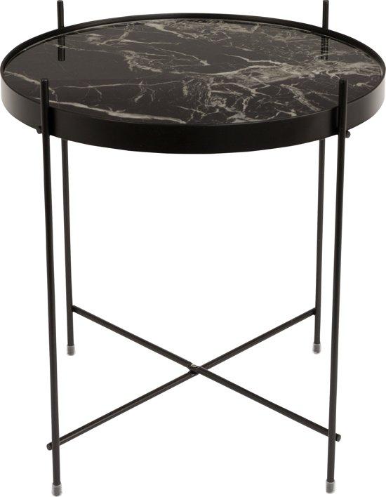Side Table Bijzettafel.Zuiver Side Table Cupid Marble Bijzettafel 43 Cm Zwart