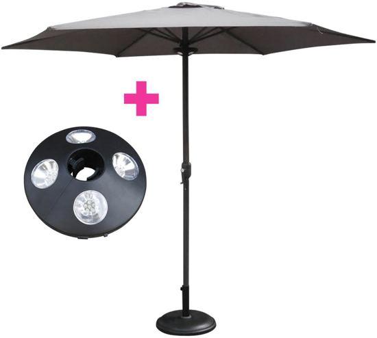 Parasol Ø 300 cm + LED Verlichting