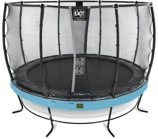 EXIT Elegant Premium trampoline ø427cm met veiligheidsnet Economy - blauw