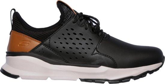 Skechers Black Hemson Relven Heren Sneakers fq16Pq8