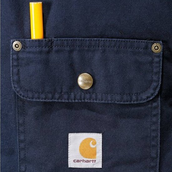 Weathered Canvas Carhartt Heren Navy Shirt Jacket hBrdCxstQ