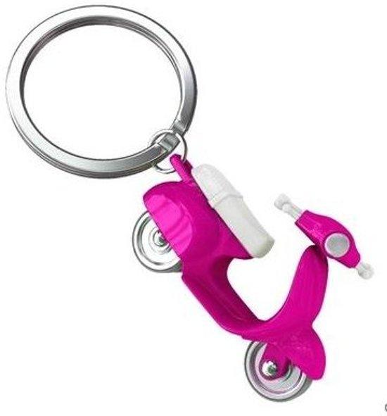 Sleutelhanger scooter fel roze design