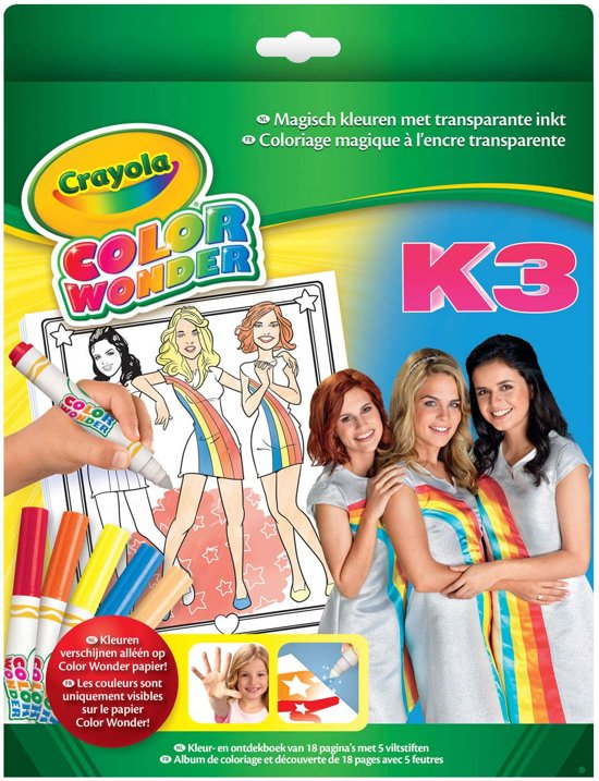 Color Wonder box set K3 - Kleurboek incl. 5 Stiften
