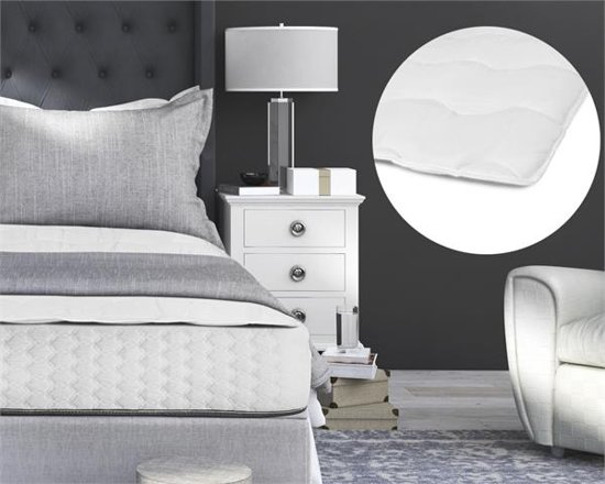 Sleeptime Luxury Hotel Matras Topper White-140 x 200 cm