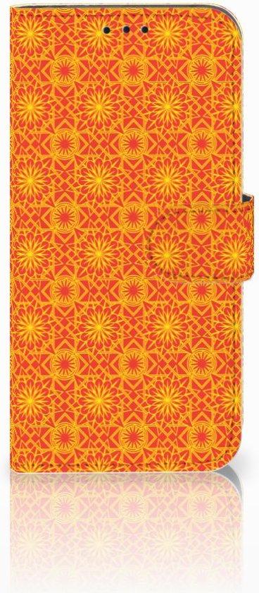 Nokia 8.1 Boekhoesje Design Batik Orange