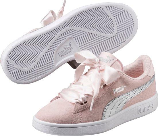 Chaussures De Sport V2 Smash Ruban Pumas Jr Enfants - Perle D'argent AFE5t0O