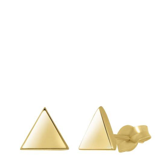 Lucardi - 14 Karaat geelgouden oorbellen triangle 6mm