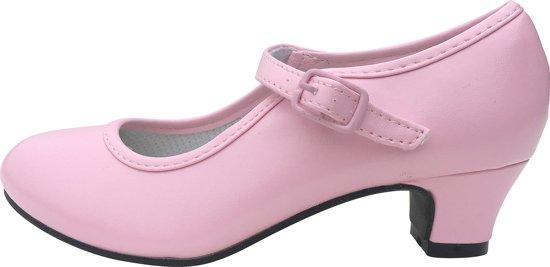 Spaanse Prinsessen schoenen licht roze maat 31  (binnenmaat 20,5 cm) bij jurk