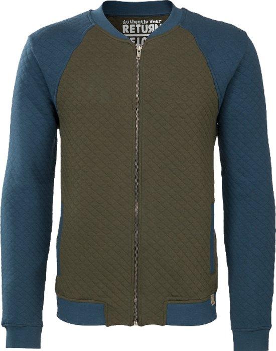 Brams Paris heren vest Edgar forest night groen blauw - maat XXXL