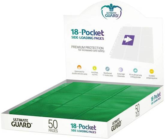 Ultimate Guard 50 Green Pages 18 Pocket Side-Loading