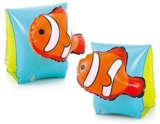 Blauw/gele vissen zwembandjes - Zwemvleugels - Zwem armbanden - Veilig zwemmen