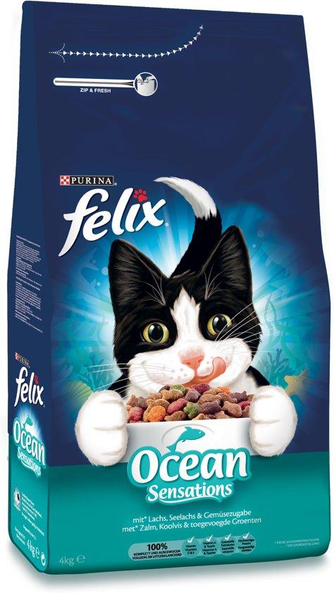 Felix Ocean Sensations - met Zalm, Koolvis & toegevoegde Groenten - kattenvoer - 4 kg