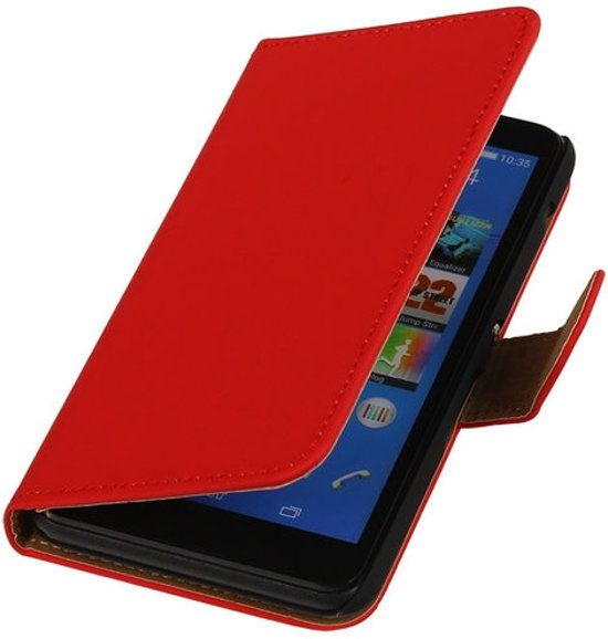 MP Case Rood Sony Xperia E4G Booktype Telefoonhoesje in Lessive
