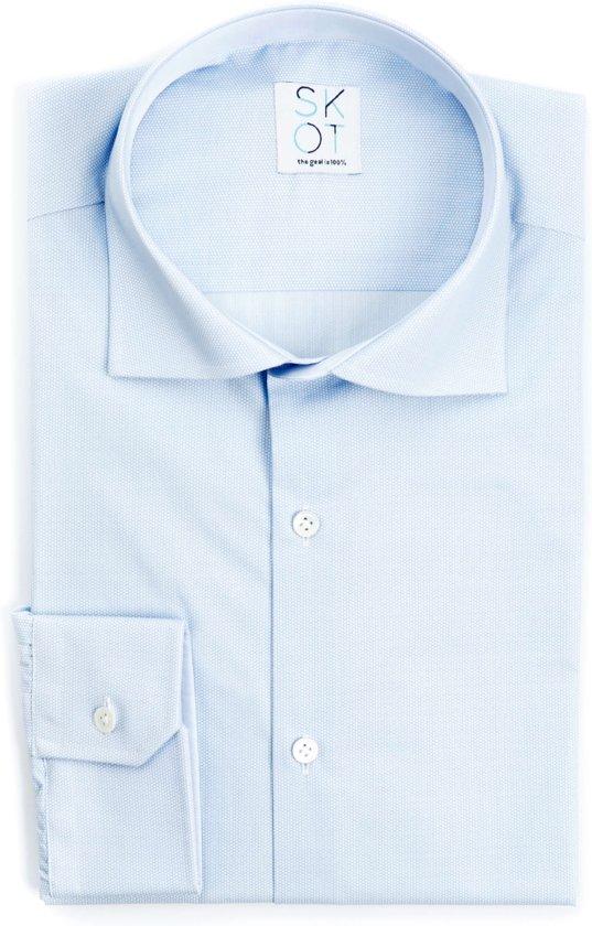 Maat 44 Overhemd.Skot Duurzaam Overhemd Heren Serious Bubble Blauw Maat 44