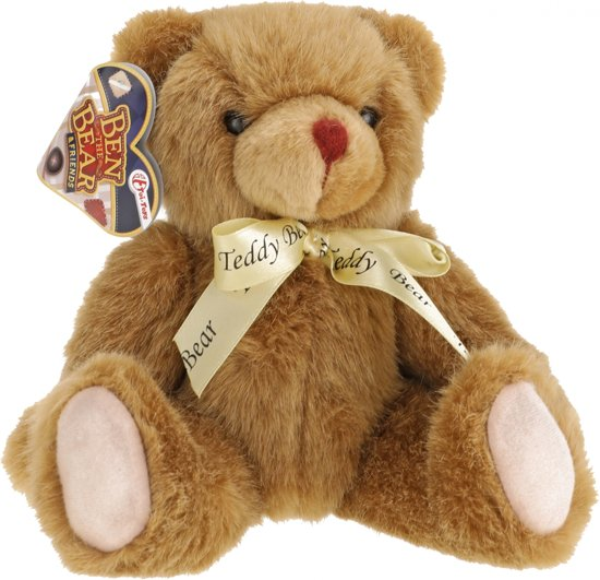 Toi-toys Knuffelbeer Donkerbruin 25 Cm