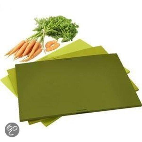 Eva Solo snijplanken 3 stuks in houder groen