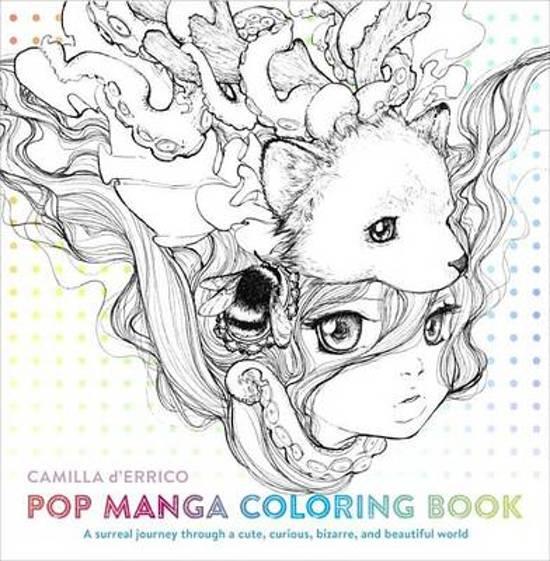 bol.com | Pop Manga Coloring Book, Camilla D\'Errico | 9780399578472 ...