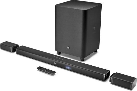 JBL Bar 5.1 - Soundbar met draadloze subwoofer en afneembare speakers - Zwart