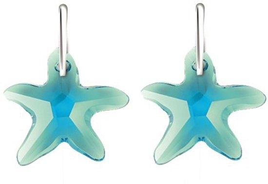 Bibiza oorbellen paar SH35 - Zeester 6721 16mm Aquarmarine