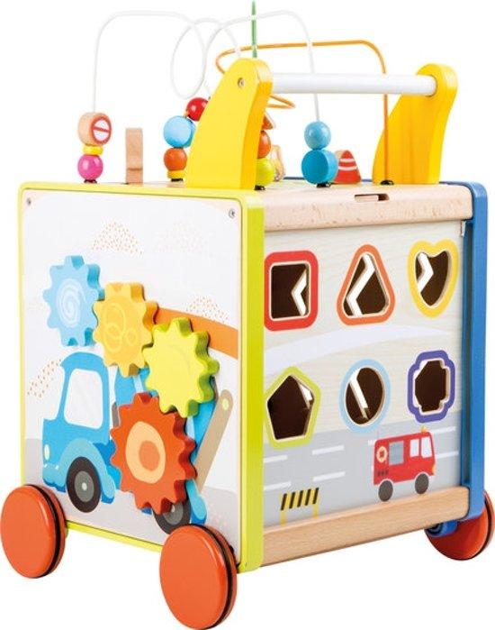 """Loopwagen hout met activiteiten (baby walker) - """"My Home Town"""" - Houten speelgoed vanaf 1 jaar"""