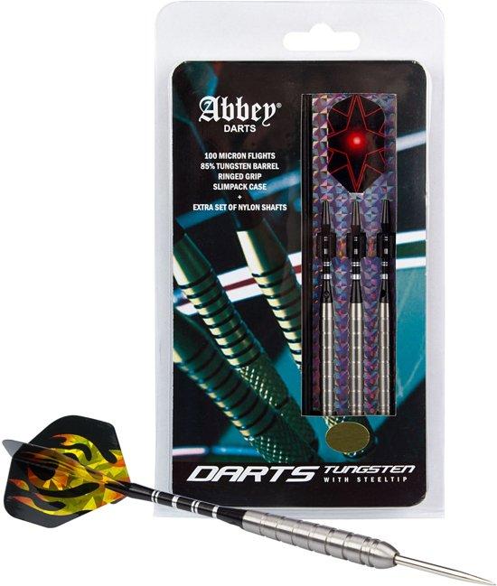 Abbey Darts - 85% Tungsten - Zilver - 26