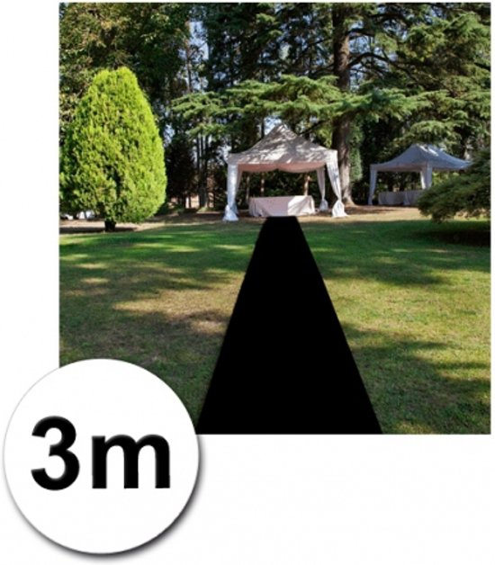 3 meter zwarte loper 1 meter breed kopen for Ladenblok 1 meter breed