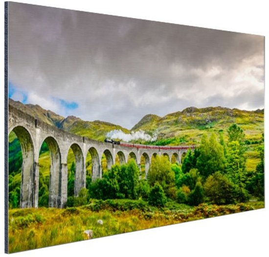 Schots landschap  Aluminium 120x80 cm - Foto print op Aluminium (metaal wanddecoratie)