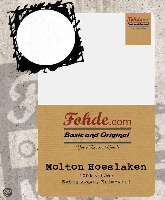Fohde Hoeslaken Molton hoeslaken Extra zwaar en krimpvrij - 90 X 200 cm