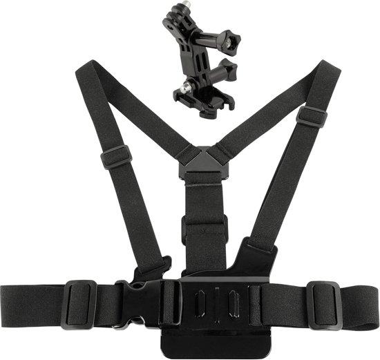 Santiamo GoPro 3-way Chest Harness - Borstband - Borst Harnas - Zwart