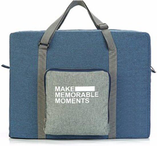 03f9105f5de Opvouwbare reis tas duffel blauw - Travel bag - Grote reis organizer -  folding reistas opvouwbaar