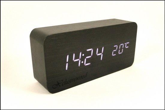 Houten klok / wekker | Zwart rectangle  - Xclusivewood
