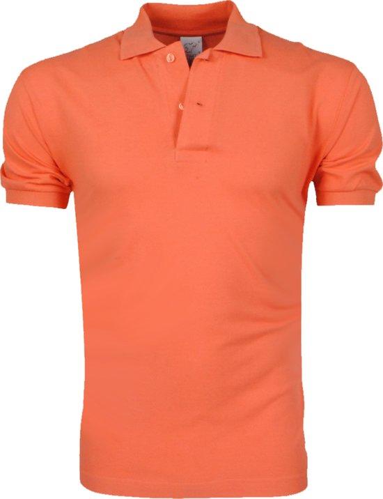 VDHT - Trendy Effen Heren Polo - Ongetailleerd - Oranje