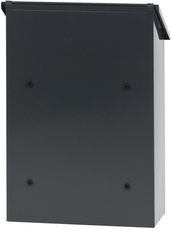 Stalen brievenbus antraciet - 32,5x16x44,5 cm