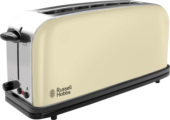 Russell Hobbs Colours Plus+ 21395-56 - Extra lange Broodrooster - Creme