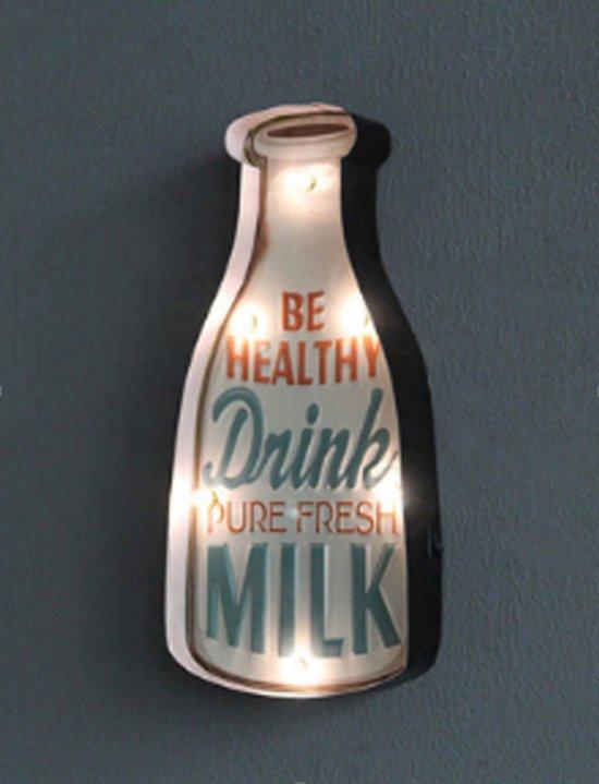Retro Led Sign Drink Milk