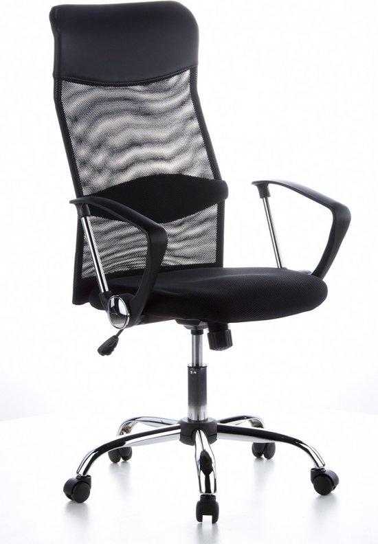 hjh office Aria High - Bureaustoel - Netstof - PU - Zwart