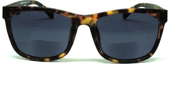 GADGERS leeszonnebril Bifocaal Old Guy Leopard/Smoke BF +2.0 - leesbril - bifocaal