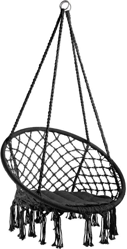 Hangstoel Of Hangmatstoel.Tectake Hangstoel Jane Zwart 403115