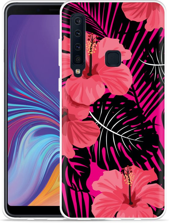 Galaxy A9 2018 Hoesje Tropical Flowers