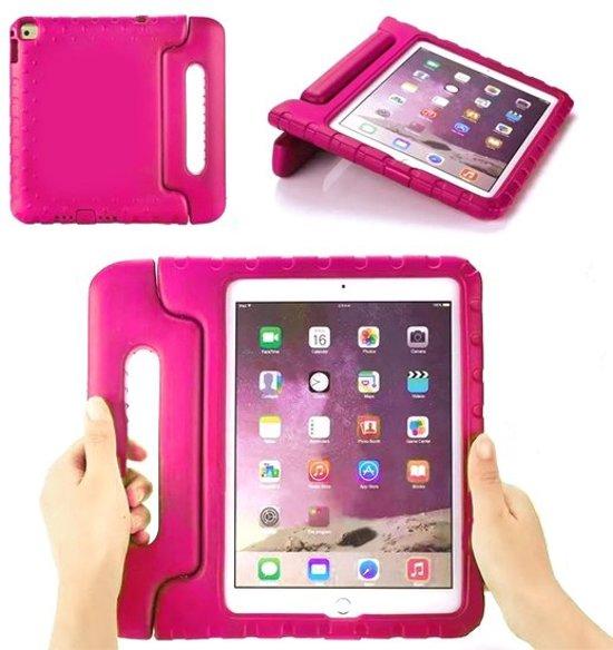 iPad hoes voor kinderen - iPad AIR 2  - ROZE - foam kids cover + ABC-LED  zaklamp