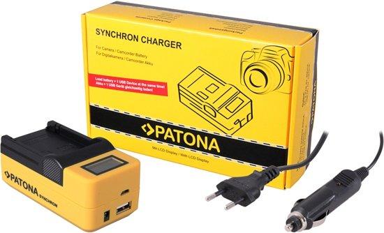 PATONA Synchron USB Charger f. GoPro AHDBT401 AHDBT-401 with LCD