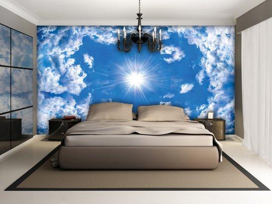 Blue Photomural, wallcovering
