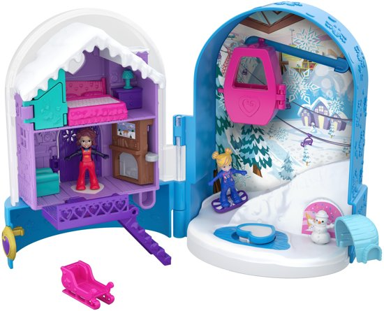 Polly Pocket Pocket World Snow Secret - Speelfigurenset