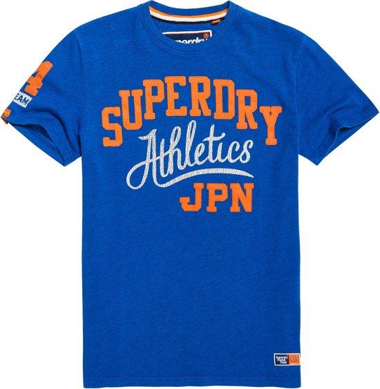 mode stijlen exclusief assortiment kijk uit voor bol.com | Superdry Shirt - Maat L - Mannen - blauw/oranje/wit