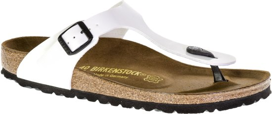 Birkenstock Gizeh - Slippers - White Patent - Smal - Maat 40