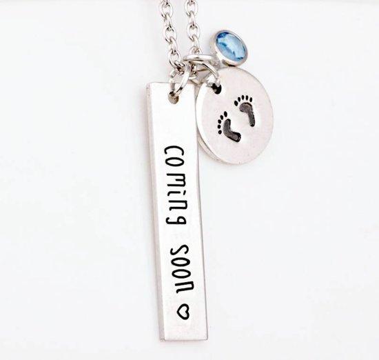 Fabulous bol.com | Zwangerschapsketting coming soon - baby voetjes - cadeau @UP98
