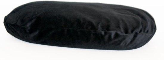 Losse hoes hondenkussen ovaal bonfire zwart kussen maat 87x57 cm