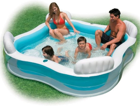 Intex Swim Center Family Lounge Pool. opblaasbaar 56475NP