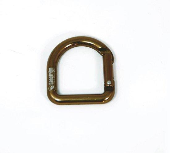Casstrom D-Ring - koperkleur