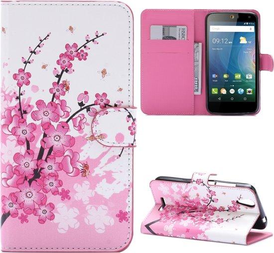Acer Liquid Z630(S) Booktype Hoesje Roze Bloesem in Eindje